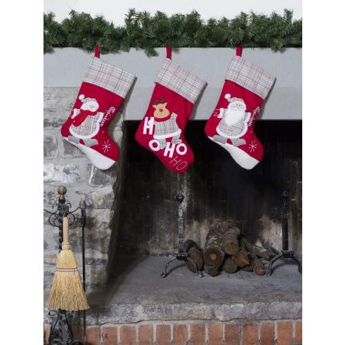 CALZA NEW WAVE CM 40x25 SANTA/SNOWMAN/DEER