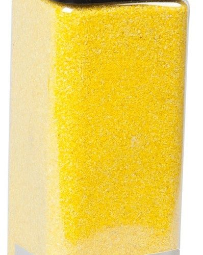 SABBIA PER DECORARE 0,5 MM GIALLO 825 GRAMMI